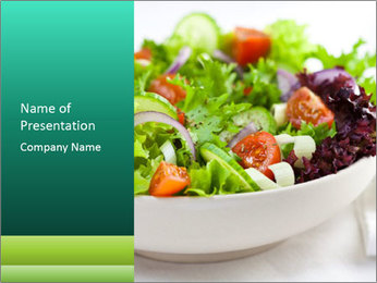 Veg Salad PowerPoint Templates - Slide 1