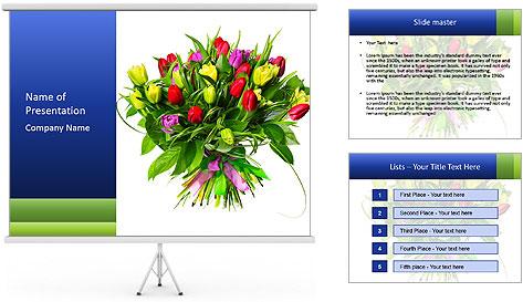 Tulip Bouquet PowerPoint Template