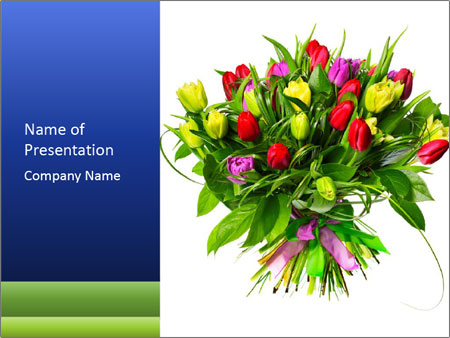 Tulip Bouquet PowerPoint Templates