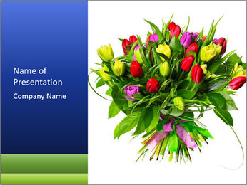 Tulip Bouquet PowerPoint Templates - Slide 1