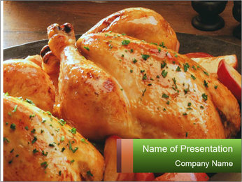 Chicken In Oven PowerPoint Template