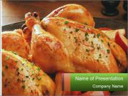 Chicken In Oven PowerPoint Templates