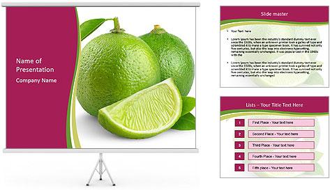 Green Juicyy Lime PowerPoint Template