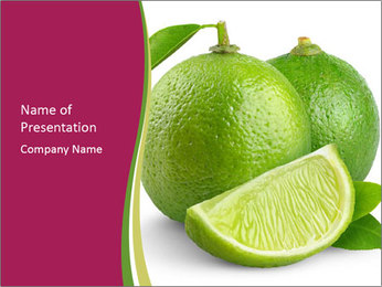 Green Juicyy Lime PowerPoint Template - Slide 1