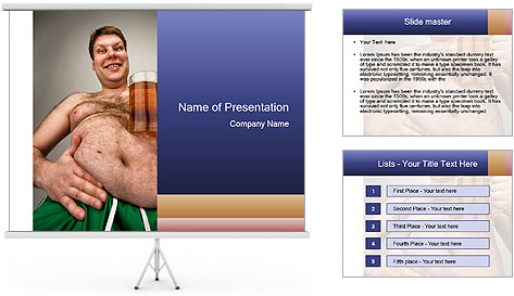 Man with glass of beer PowerPoint Template