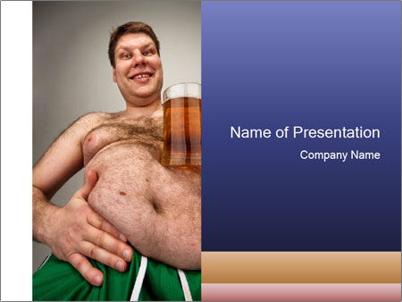 Man with glass of beer PowerPoint Templates