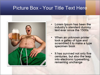 Man with glass of beer PowerPoint Template - Slide 13