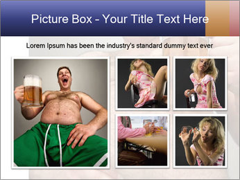 Man with glass of beer PowerPoint Template - Slide 19