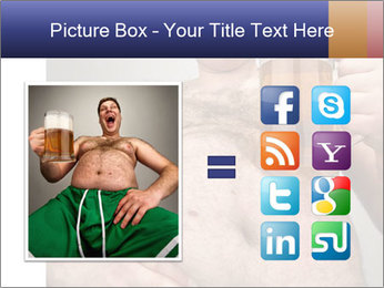 Man with glass of beer PowerPoint Template - Slide 21