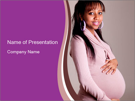 Beautiful pregnant woman PowerPoint Templates