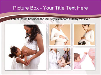 Beautiful pregnant woman PowerPoint Templates - Slide 19