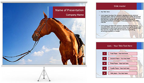 Saddled Horse PowerPoint Template