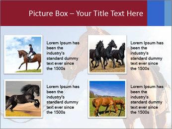 Saddled Horse PowerPoint Template - Slide 14