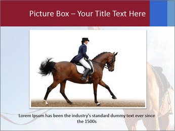Saddled Horse PowerPoint Template - Slide 15