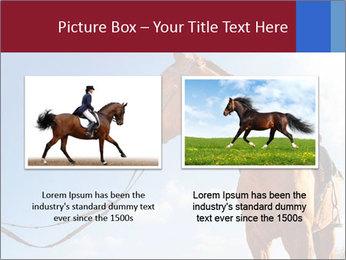Saddled Horse PowerPoint Template - Slide 18