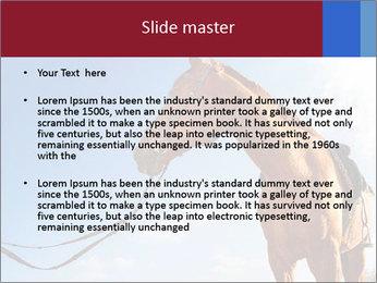 Saddled Horse PowerPoint Template - Slide 2