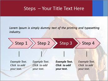 Saddled Horse PowerPoint Template - Slide 4