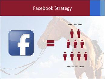Saddled Horse PowerPoint Template - Slide 7