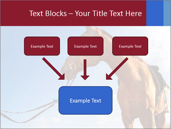 Saddled Horse PowerPoint Template - Slide 70