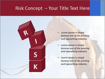 Saddled Horse PowerPoint Template - Slide 81
