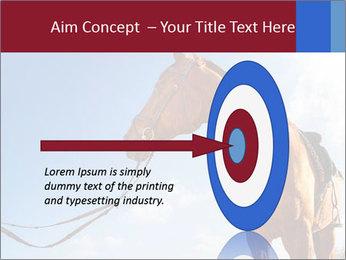 Saddled Horse PowerPoint Template - Slide 83