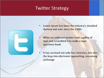 Saddled Horse PowerPoint Template - Slide 9