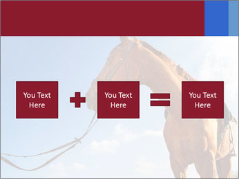 Saddled Horse PowerPoint Template - Slide 95
