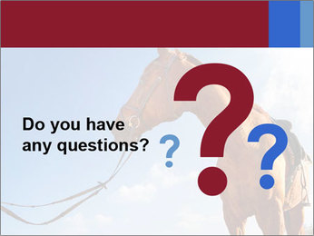 Saddled Horse PowerPoint Template - Slide 96