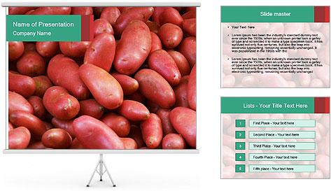 Red potatoes PowerPoint Template