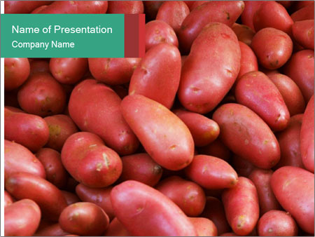 Red potatoes PowerPoint Templates