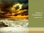 View of storm seascape PowerPoint Templates
