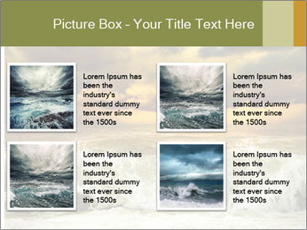 View of storm seascape PowerPoint Template - Slide 14