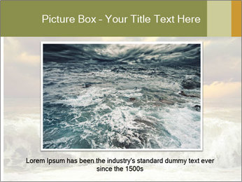 View of storm seascape PowerPoint Template - Slide 15