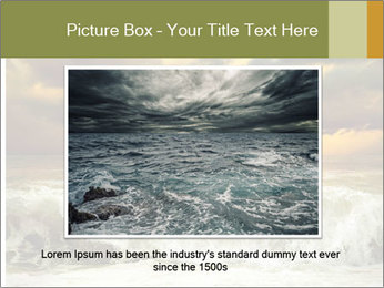 View of storm seascape PowerPoint Template - Slide 16