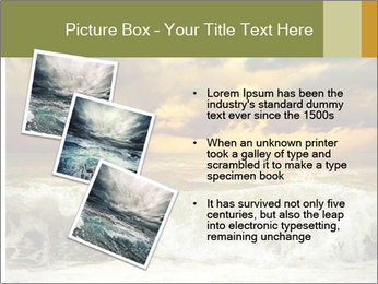 View of storm seascape PowerPoint Template - Slide 17