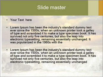 View of storm seascape PowerPoint Template - Slide 2
