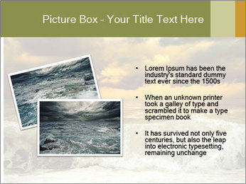 View of storm seascape PowerPoint Template - Slide 20