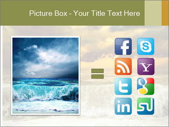 View of storm seascape PowerPoint Template - Slide 21