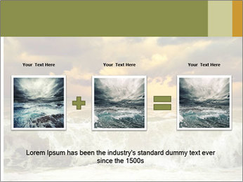 View of storm seascape PowerPoint Template - Slide 22