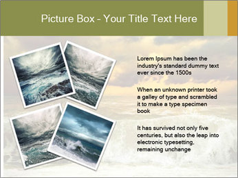 View of storm seascape PowerPoint Template - Slide 23