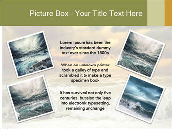 View of storm seascape PowerPoint Template - Slide 24