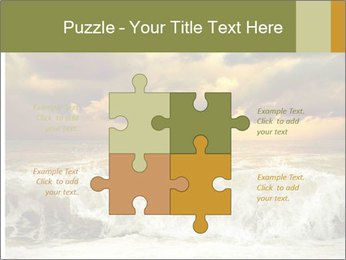 View of storm seascape PowerPoint Template - Slide 43