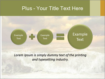 View of storm seascape PowerPoint Template - Slide 75