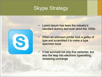 View of storm seascape PowerPoint Template - Slide 8