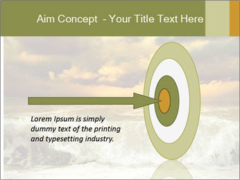 View of storm seascape PowerPoint Template - Slide 83