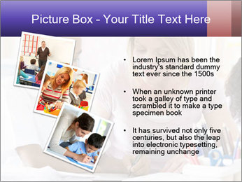 Student in class PowerPoint Template - Slide 17