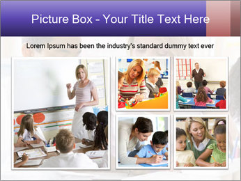 Student in class PowerPoint Template - Slide 19