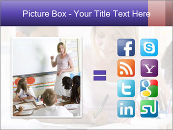 Student in class PowerPoint Template - Slide 21
