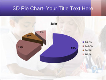 Student in class PowerPoint Template - Slide 35