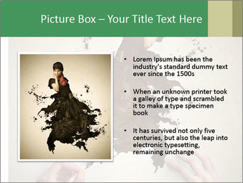 Hands painting a beautiful woman PowerPoint Templates - Slide 13